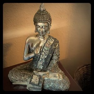 Other - Silver sparkly Buddha